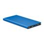 metallic blue portable charger