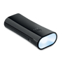 black torch and powerbank with the light on