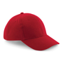 Pro-Style Heavy Brushed Cotton Cap in red