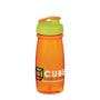 600ml water bottle in translucent orange with flip lid
