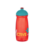 Promotional sports bottle in red with mix and match coloured lid