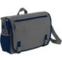 Dark grey and navy shoulder laptop carry case