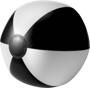 PVC Beach Ball in black