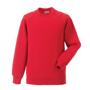 Raglan Sleeve Sweatshirt in red with crew neck
