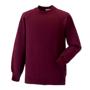 Raglan Sleeve Sweatshirt in burgundy with crew neck