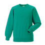 Raglan Sleeve Sweatshirt in light green with crew neck