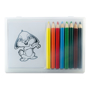 recreation colouring set with colouring in pencils