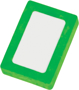 Rectangle Snap Eraser in green and white