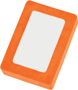 Rectangle Snap Eraser in orange and white