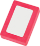 Rectangle Snap Eraser in pink and white