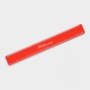 Recycled Flexi Ruler in red with 1 colour print