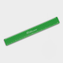 Recycled Flexi Ruler in green with 1 colour print