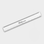 Recycled Flexi Ruler in white with 1 colour print