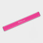 Recycled Flexi Ruler in pink with 1 colour print