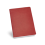 Recycled cardboard notebook in red