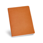 Recycled cardboard notebook in orange