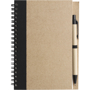 Recycled Notepad and Pen with black trim and colour match pen