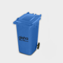 Recycled Wheelie Bin Pen Pot  in blue with 1 colour print