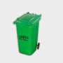 Recycled Wheelie Bin Pen Pot  in green with 1 colour print