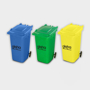 Recycled Wheelie Bin Pen Pot  in 3 different colours with 1 colour print