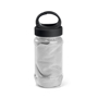 bottle containing grey gym towel