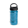 bottle containing light blue gym towel