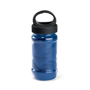 bottle containing dark blue gym towel