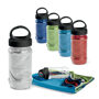 sports bottles containing a gym towel in a range of colours
