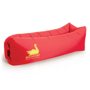 Relax Air Bed in red with 1 colour print logo