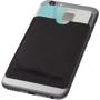 RFID Smartphone Wallet on back of phone in black
