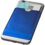 RFID Smartphone Wallet on back of phone in blue
