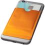 RFID Smartphone Wallet on back of phone in orange