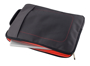 grey laptop case with red inner lining and co-ordinating stitching