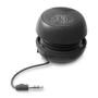black ripple bluetooth speaker with cable wrapped around the centre