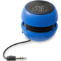 blue ripple bluetooth speaker with cable wrapped around the centre