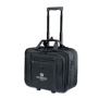 Rochester Travel Bag in black with trolley handle up and with 1 colour print logo