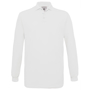 Safran Long Sleeve Polo in white with collar and 3 buttons
