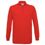 Safran Long Sleeve Polo in red with collar and 3 buttons