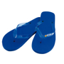 Salti Flip Flops in blue with 4 colour print