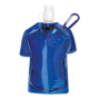 Sports Shirt Water Bottle With Clip - Blue