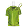 Sports Shirt Water Bottle With Clip - Green