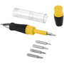 black and yellow screwdriver pen showing 5 heads