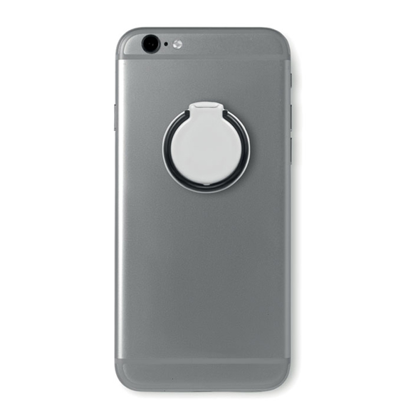 Selfie Ring Phone Gripper and Stand on back of phone