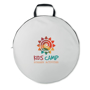 Shelty Beach Shelter in pouch in white with full colour print logo