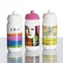 Plastic Shiva Sports Bottle Full Colour Print White and Pink Lids