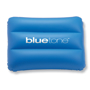 Siesta Beach Pillow in blue with 1 colour print