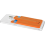 Silicone Phone Wallet With Stand in orange flat