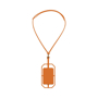 Silicone RFID Card Holder with lanyard in orange