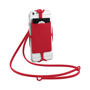 Silicone RFID Card Holder with lanyard in red