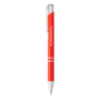 shiny metal sinatra pen in coral red